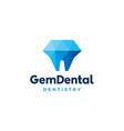 gems dental logo for dentist and dentistry vector image