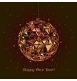 Geometric christmas ball Holidays Background vector image vector image