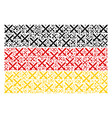germany flag pattern of crossing swords items vector image vector image