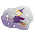 girl witch vector image vector image