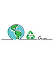 go green concept lettering with earth vector image