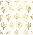 gold foil trees seamless pattern tree vector image vector image