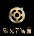 gold gear icon
