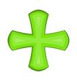 Green cross icon in cartoon style vector image vector image