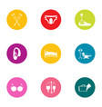 handicapped icons set flat style vector image vector image