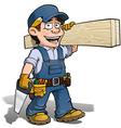 Handyman Carpenter Blue vector image vector image