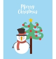 happy merry christmas card vector image vector image