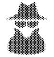 hexagon halftone spy icon vector image