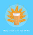how much can you drink poster pint of dark beer vector image