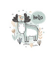 ilustration of cute hand drawn moose in the vector image