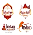 Indian Food Logo Creative vector image