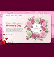 international womens day website landing vector image vector image
