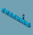 isometric concept of training staff 3d people vector image