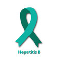 jade ribbon hepatitis b virus world hepatitis day vector image vector image