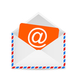 Letter to the e-mail symbol vector image vector image