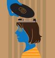music head vector image