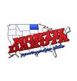 north dakota state with us dakota state vector image vector image