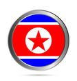 North Korea flag button vector image vector image