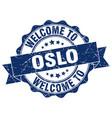 oslo round ribbon seal vector image vector image
