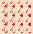 party hats pattern vector image vector image