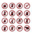 Pest control Harmful insects and rodents set vector image