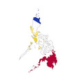 philippines country silhouette with flag on vector image vector image