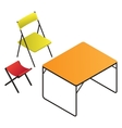 Plastic table and chair vector image
