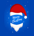 santas hat with inscription merry christmas vector image