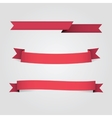 Set Red Banners fot Advertisement vector image vector image
