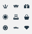 set simple money icons vector image