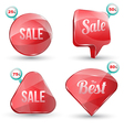 shiny gloss red banner sale set vector image vector image