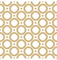 simple golden geometric seamless pattern vector image vector image