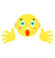 smiley screams scared vector image vector image
