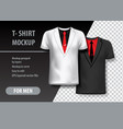 t-shirt mockup with suit in two colors mockup vector image