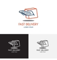 Template of logo of delivery company vector image