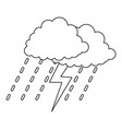 thunderstorm icon outline style vector image vector image