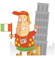 tourist travel italy vector image