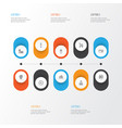 travel icons set collection of credit card vector image vector image