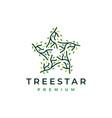 tree star branch leaf logo icon vector image vector image