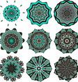 Turquoise mandalas vector image