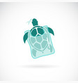 turtle trapped in a plastic bag on white vector image