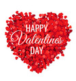 valentines day poster with red hearts vector image vector image