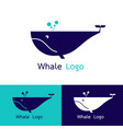 whale logo design vector image vector image