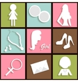 Girls icons vector image