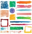 multicolor grunge frame vector image