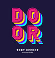3d vibrant color text effect editable text vector image vector image