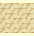 abstract gold geometric 3d texture background vector image