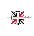 abstract medical logo design inspiration vector image vector image