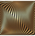 abstract metal gold background with zigzag stripes vector image vector image