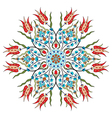Antique ottoman turkish pattern design eighty nine vector image vector image